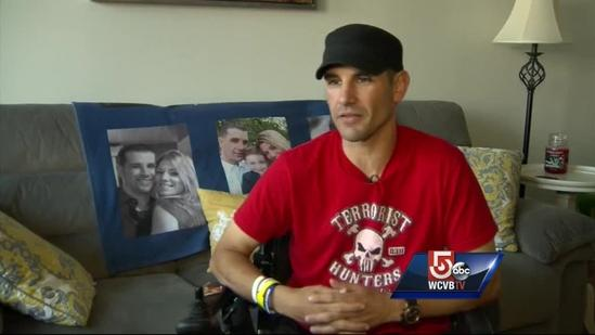 Bombing survivor reacts to suspect's request