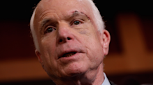 Healthcare stocks are rising after John McCain dealt a major blow to the Republican healthcare bill