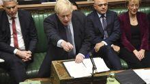 UK PM Johnson asks EU for Brexit delay, but argues against it