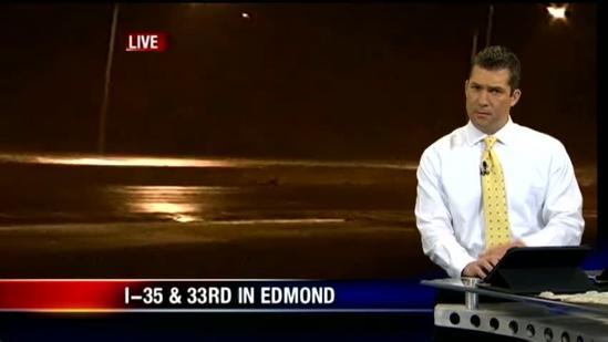 Billy Dry's storm report from Edmond