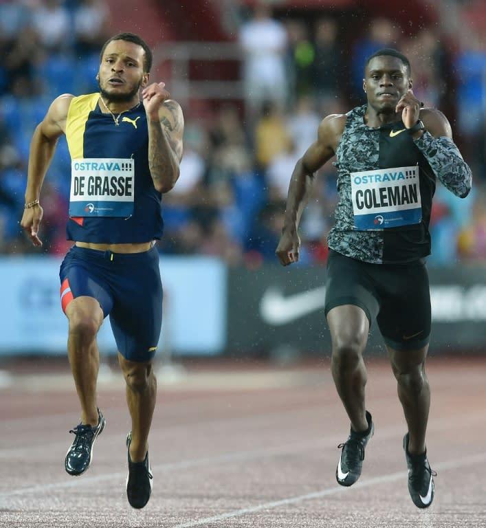 Andre De Grasse edged Christian Coleman in a 200m in Ostrava in June