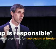 O'Rourke on haunting photo of migrant and daughter: 'Trump is responsible for these deaths'
