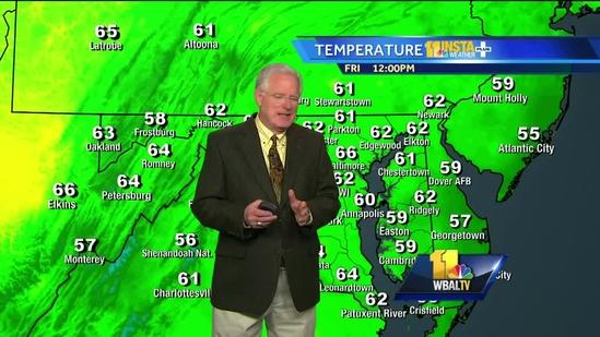 Maryland's Friday afternoon weather forecast