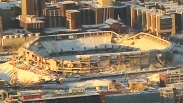 Metrodome's outer walls demolished in Minnesota