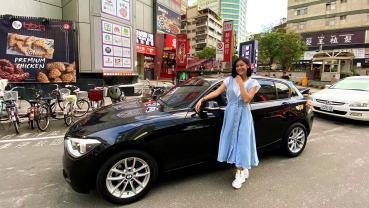 【明星愛聊車】安苡愛獨鍾小車購入BMW 116i,分享慘痛經歷 嘆:買二手車不能只看外表!
