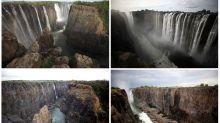 FOTOS   El antes y después de las Cataratas Victoria tras la peor sequía en un siglo