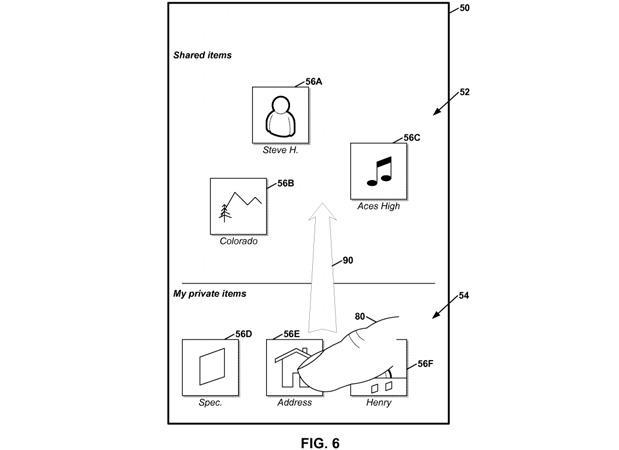 Google patents drag-and-drop content sharing with nearby groups