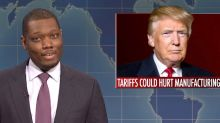 'SNL' Weekend Update Host Michael Che Says Trump Is as 'Healthy as a Fat Horse' (Video)