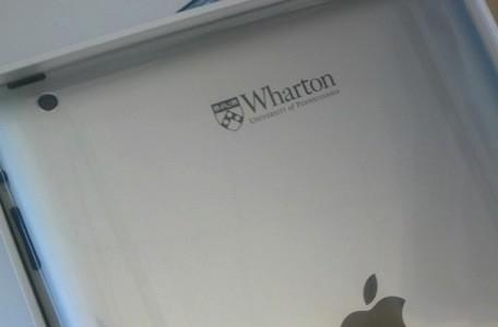 Wharton School of The University of Pennsylvania offers custom engraved iPads to students