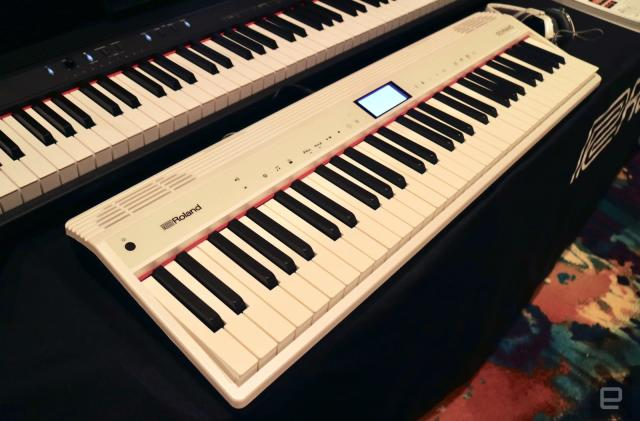 A Roland keyboard has Alexa built-in for voice control while you play