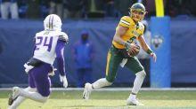 One mock draft has Washington trading up for quarterback Trey Lance