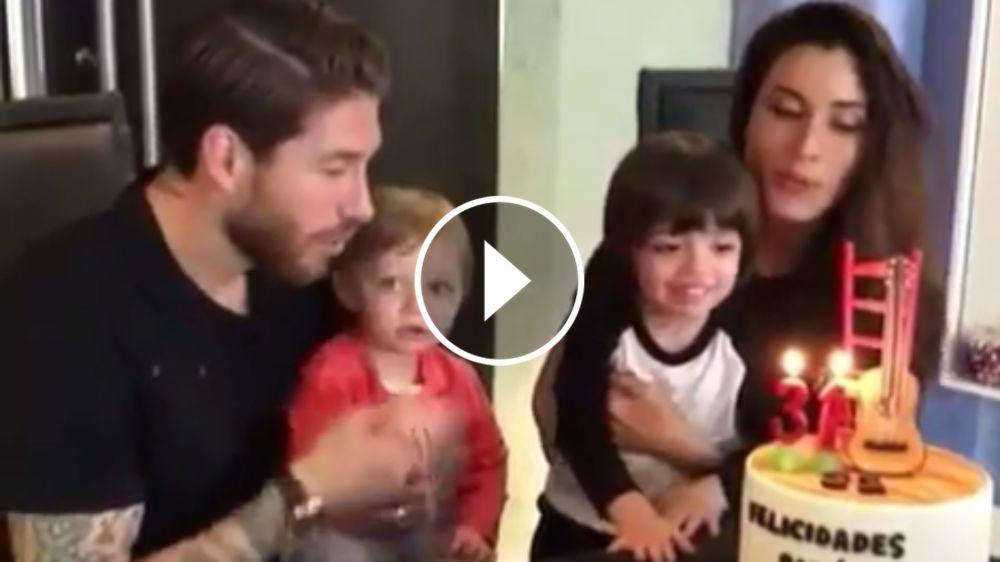 VÍDEO: Sergio Ramos celebra su cumpleaños junto a su familia