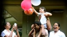 Pics: Watch Taimur Celebrate Janmasthami and Get His Dahi Handi