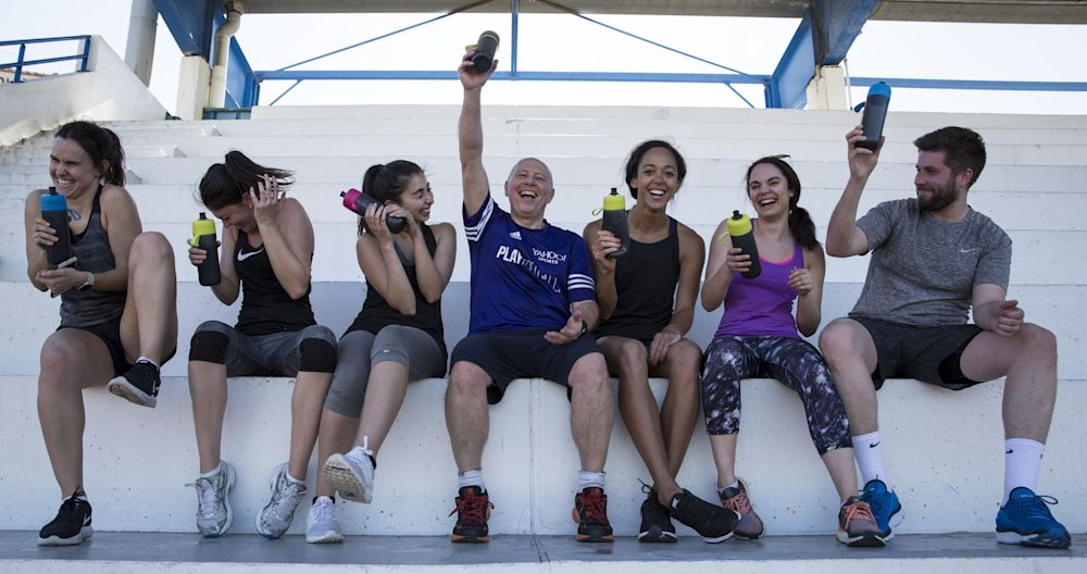 Everyone who trained with KJT raises their bottles to their good health