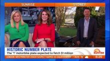 Historic number plate's record price