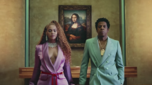 See Beyoncé and Jay-Z Pose in Front of a Meghan Markle Painting in This Amazing New Clip
