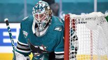 Sharks' Alexei Melnichuk battles nerves during first NHL start
