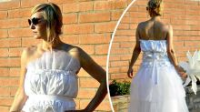 'Bed sheets and rubber bands': $2k fairy wedding dress panned online