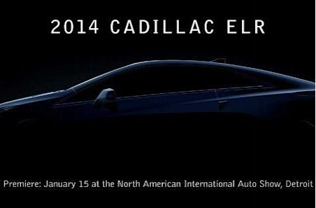 Cadillac to reveal 2014 ELR electric coupe on January 15th
