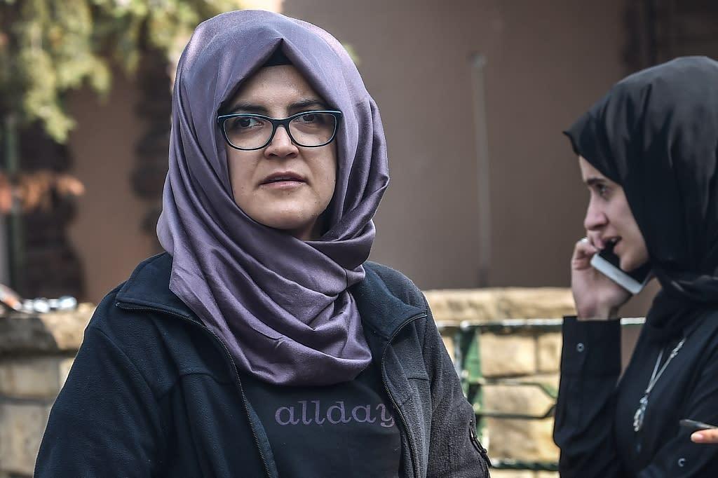 Saudi journalist Jamal Khashoggi's Turkish fiancee Hatice Cengiz has called for his killers to be held to account