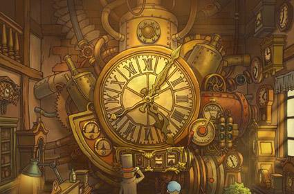Professor Layton screens and art from the future