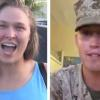 Everyone has asked out Ronda Rousey, but she just said yes to a Marine