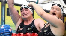 Invictus swimmer's incredible show of support for teammate
