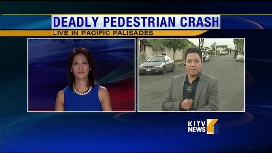 Man run over in Pacific Palisades