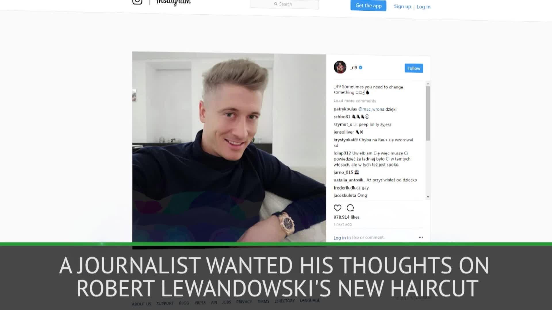 Red Hair Heynckes Coach Weighs In On Lewandowskis New Haircut Video