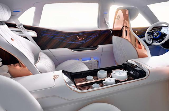 Maybach Ultimate Luxury EV brings its own tea service
