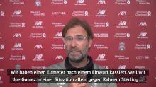 """Klopp nach Pleite: """"War nicht gut gelaunt"""""""