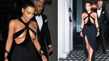 Kim Kardashian shocks in very revealing cut-out gown