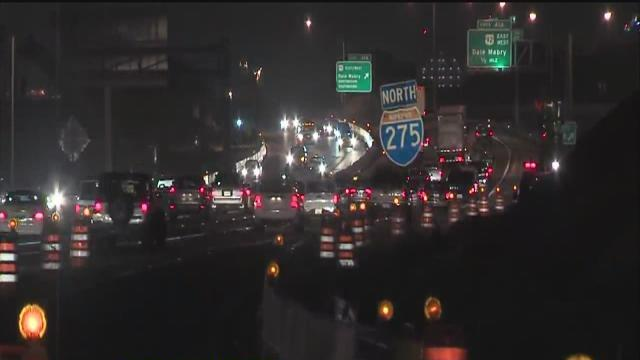 I-275 lanes reopen Tuesday morning