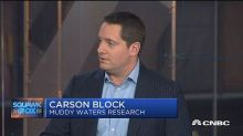 Feared short seller Carson Block's next target is this biotech stock