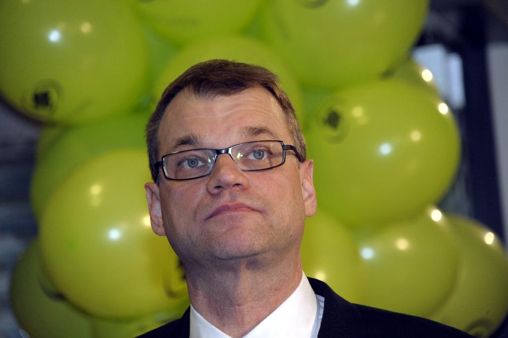 Juha Sipilä, the leader of the opposition Centre Party, attends a 2012 party meeting in Helsinki