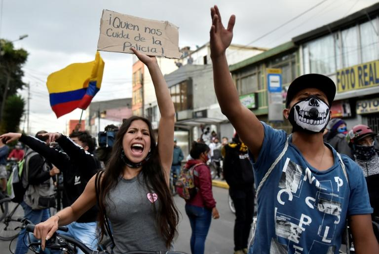 Demonstrators plan to hit the streets for a third straight night of protests in Bogota (seen here) and other cities in Colombia