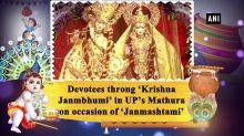 Devotees throng 'Krishna Janmbhumi' in UP's Mathura on occasion of 'Janmashtami'
