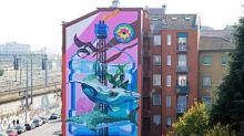 Milano, il murales a Lambrate dedicato agli oceani e che purifica l'aria