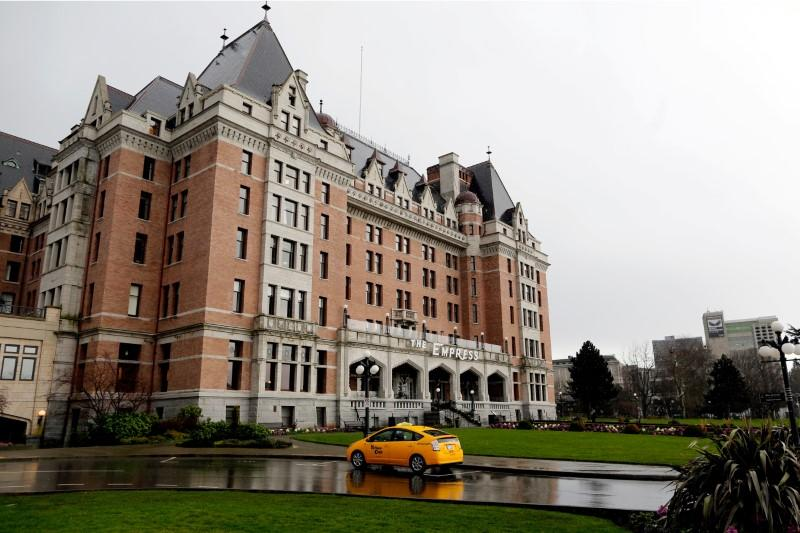 The Fairmont Empress Hotel is seen in Victoria
