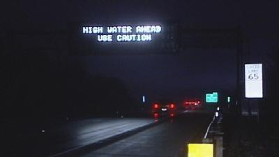 Standing Water Reported On Highways