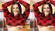 """Em clima junino, Cleo mostra tatuagem misteriosa: """"Agindo naturalmente"""""""