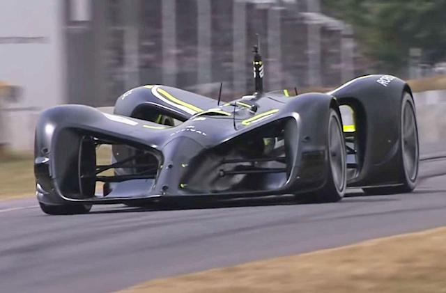 Watch a self-driving car complete Goodwood's legendary hill climb