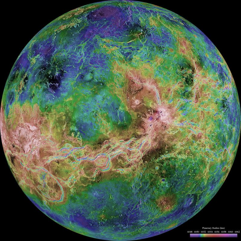 Scientists identify 37 recently active volcanic structures on Venus from radar images