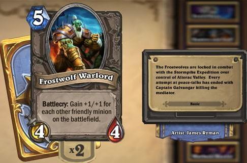Hearthstone Highlight: Frostwolf Warlord