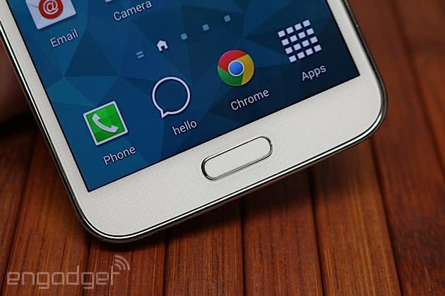 Your fingerprint unlocks LastPass on the Galaxy S5