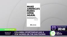 Columbia sportswear has a few words on the shutdown