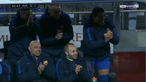 FOTO: La reacción del banquillo del Barcelona tras el gol de Mascherano