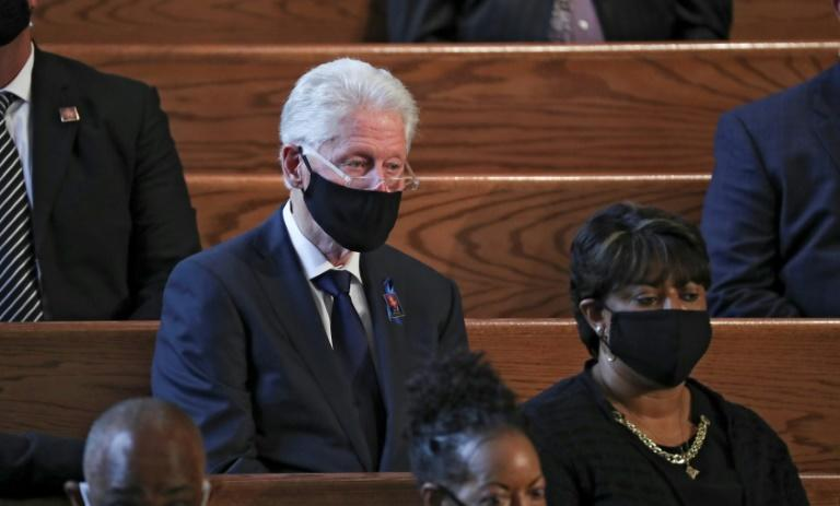 Former president Bill Clinton at the funeral service of John Lewis (AFP Photo/POOL)