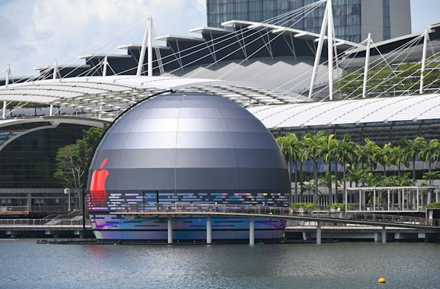 Apple is opening its first 'floating' store in Singapore