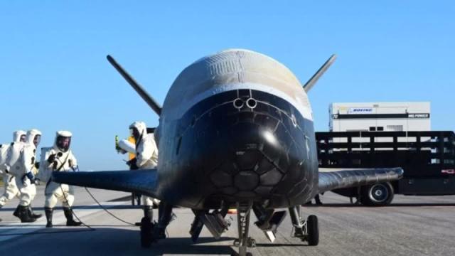U.S. space plane lands after secret mission